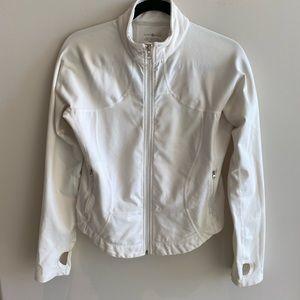 White Lululemon zip up jacket